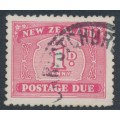 NEW ZEALAND - 1949 1d carmine Postage Due, multi watermark, used – SG # D45