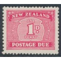 NEW ZEALAND - 1949 1d carmine Postage Due, multi watermark, MH – SG # D45