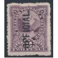 NEW ZEALAND - 1907 2d purple Pembroke Peak, overprinted OFFICIAL, MH – SG # O61a