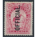 NEW ZEALAND - 1909 6d pink Kiwi, perf. 14:15, overprinted OFFICIAL, MH – SG # O72