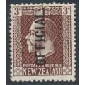 NEW ZEALAND - 1924 3d deep chocolate KGV, overprinted OFFICIAL, MH – SG # O95