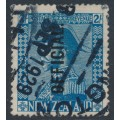 NEW ZEALAND - 1928 2/- light blue KGV Admiral, o/p OFFICIAL, used – SG # O112