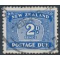 NEW ZEALAND - 1949 2d blue Postage Due, sideways watermark, used – SG # D46w