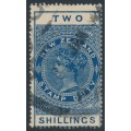 NEW ZEALAND - 1924 2/- deep blue QV Stamp Duty, perf. 14½:14, single watermark, used – SG # F124