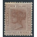 NEW ZEALAND - 1888 6d brown QV (2nd Sideface), NZ star watermark (7mm), perf. 12:11½, MNG – SG # 201
