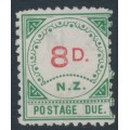 NEW ZEALAND - 1899 8d carmine/green Postage Due, MNG – SG # D2