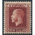 NEW ZEALAND - 1915 7½d red-brown KGV definitive, perf. 14:13½, MH – SG # 426