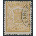 NETHERLANDS - 1869 2c brown-yellow Coat of Arms, perf. 14, used – NVPH # 17A
