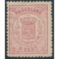 NETHERLANDS - 1869 1½c rose Coat of Arms, perf. 13¼, mint hinged – NVPH # 16B
