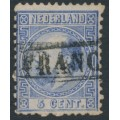 NETHERLANDS - 1867 5c blue King Willem III, type I, perf. 12¾:11¾, used – NVPH # 7IA