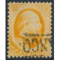 NETHERLANDS - 1864 15c orange King Willem III (Utrecht printing), used – NVPH # 6A