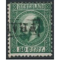NETHERLANDS - 1867 20c dark green King Willem III, type I, perf. 12¾:11¾, used – NVPH # 10IA
