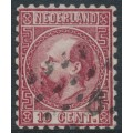 NETHERLANDS - 1867 10c carmine King Willem III, type II, perf. 10½:10¼, used – NVPH # 8IIB
