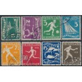 NETHERLANDS - 1928 Amsterdam Olympics set of 8, used – NVPH # 212-219