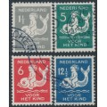 NETHERLANDS - 1929 Voor het Kind set of 4, used – NVPH # 225-228