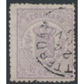 NETHERLANDS - 1870 2½c pale violet Coat of Arms, perf. 13¼, used – NVPH # 18C