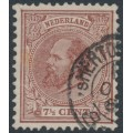 NETHERLANDS - 1875 7½c chocolate-brown King Willem III, perf. 12½:12, used – NVPH # 20H