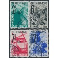 NETHERLANDS - 1932 Tourism Propaganda (ANVV) set of 4, used – NVPH # 244-247