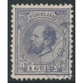 NETHERLANDS - 1875 1G grey-violet King Willem III, perf. 12½:12, used – NVPH # 28H