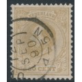 NETHERLANDS - 1875 50c yellow-brown King Willem III, perf. 12½:12, used – NVPH # 27H