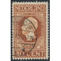 NETHERLANDS - 1913 20c brown Jubilee, perf. 11½:11½, used – NVPH # 95B