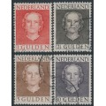 NETHERLANDS - 1949 1G to 10G Queen Juliana set of 4, used – NVPH # 534-537