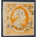 NETHERLANDS - 1852 15c deep orange King Wilhelm III, used – NVPH # 3b