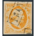 NETHERLANDS - 1852 15c orange King Willem III, used – NVPH # 3c