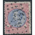 NETHERLANDS - 1872 2G50c red/ultramarine King Willem III, used – NVPH # 29