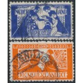NETHERLANDS - 1923 Artists' Welfare set of 2, used – NVPH # 134-135