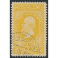 NETHERLANDS - 1913 5G golden-yellow Jubilee, perf. 11½:11½, used – NVPH # 100B