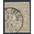 NETHERLANDS - 1884 1G light brown Postbewijszegel, used – NVPH # PW1