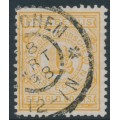 NETHERLANDS - 1884 1½G yellow Postbewijszegel, used – NVPH # PW2