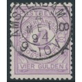 NETHERLANDS - 1884 4G violet Postbewijszegel, used – NVPH # PW5