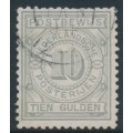 NETHERLANDS - 1884 10G grey Postbewijszegel, used – NVPH # PW7