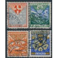 NETHERLANDS - 1926 Voor het Kind set of 4, used – NVPH # 199-202