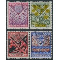 NETHERLANDS - 1927 Voor het Kind set of 4 with coil perforations, used – NVPH # R78-R81