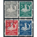 NETHERLANDS - 1929 Voor het Kind set of 4 with coil perforations, used – NVPH # R82-R85
