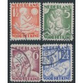 NETHERLANDS - 1930 Voor het Kind set of 4, used – NVPH # 232-235