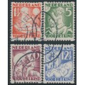 NETHERLANDS - 1930 Voor het Kind set of 4 with coil perforations, used – NVPH # R86-R89