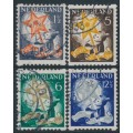 NETHERLANDS - 1933 Voor het Kind set of 4 with coil perforations, used – NVPH # R98-R101