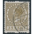 NETHERLANDS - 1926 35c brown Queen, rings watermark, coil perf. two sides, used – NVPH # R30