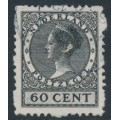 NETHERLANDS - 1934 60c black Queen, rings watermark, coil perf. four sides, used – NVPH # R56
