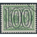 NETHERLANDS - 1940 100c Numeral overprint on 3c green Numeral & Dove, used – NVPH # 371