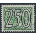 NETHERLANDS - 1940 250c Numeral overprint on 3c green Numeral & Dove, used – NVPH # 372