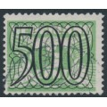 NETHERLANDS - 1940 500c Numeral overprint on 3c green Numeral & Dove, used – NVPH # 373