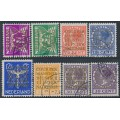 NETHERLANDS - 1934 1½c to 30c International Court of Justice set of 8, used – NVPH # D9-D15A+D15B