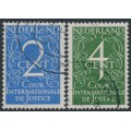 NETHERLANDS - 1950 International Court of Justice set of 2, used – NVPH # D25-D26
