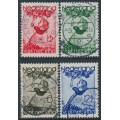 NETHERLANDS - 1935 Voor het Kind set of 4, used – NVPH # 279-282