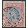 NETHERLANDS - 1872 2.50G red/pale blue King Willem III, used – NVPH # 29